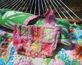 Lilly Pulitzer Rag Quilt Purse Fun for Spring!!!