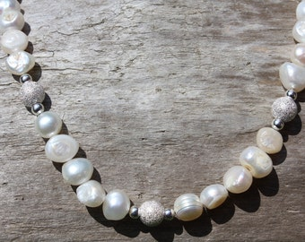 Stardust Silver & Pearl Necklace