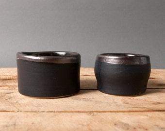 salt bowl little black spices vessel unique unic danish by eeliethel scandinavian studio pottery polli pots