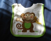 Monkey with Washcloth, over the head bib