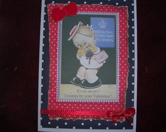 Vintage Style Valentine Card
