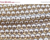 ON SALE Smoky Luster Brown 8mm Round Czech