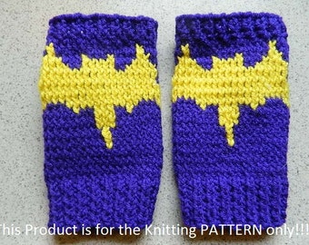 Knitting Pattern: Iron Man Fingerless Gloves by DuckyDame on Etsy