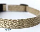 Hemp Dog Collar - Hemp - Narrow Dog Collar - Adjustable Dog Collar - Hippie Collar