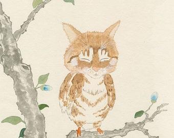 Oz Meowl 12x16 (Print)