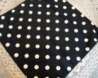NAPL1518  Extra Large Black and White Heavy Cotton Napkins,Napkins, Napkin, Napkin Set, Napkin Sets, Table, Kitchen  Eco Friendly