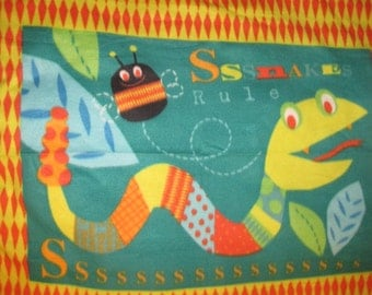 Happy Snake with Orange Lap Cover - Ready to Ship Now