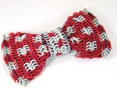 Chainmail Bow Tie - Polka Dot in Red and White