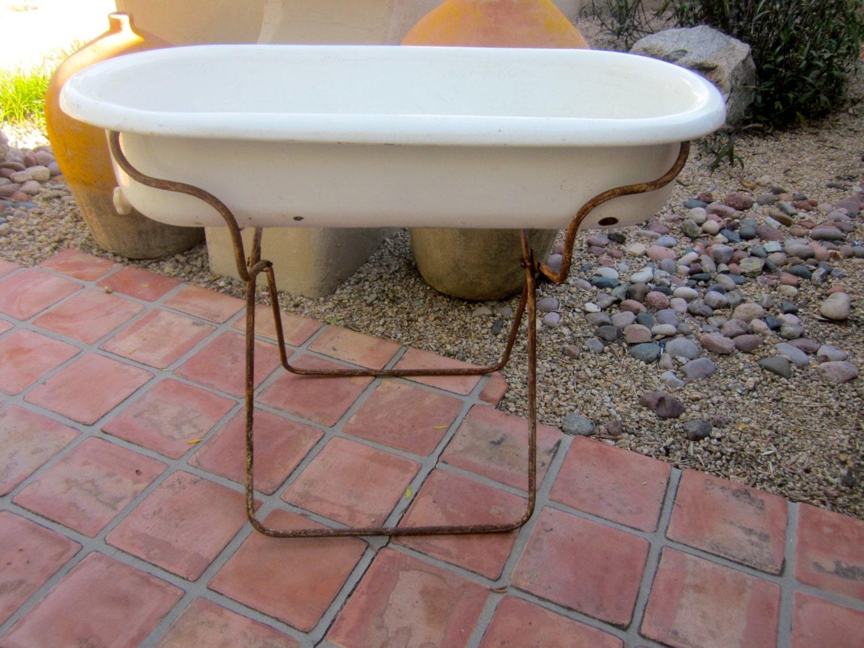 authentic european antique baby bathtub tub by welovelucite. Black Bedroom Furniture Sets. Home Design Ideas