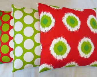 NEW Set of Three  Pillow Covers Dots and Ikat Dots Pillows, Throw Pillow, Covers, Housewares