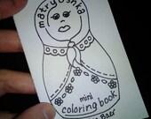 Matryoshka Mini Coloring Book, adult coloring, coloring page