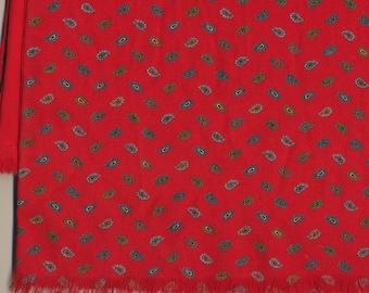 SALE Long Wool Scarf Muffler silk lining