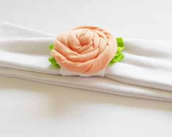TODDLER SIZE Pick Your Color Jersey Knit Rose Flower Headband Headwrap