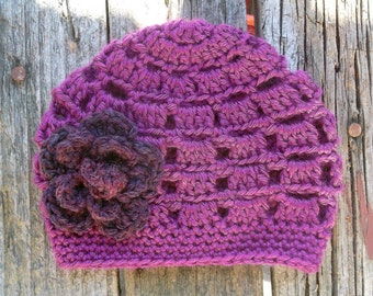 Crochet Girls Hat, Hat for Toddlers, Childrens Hat, Kids Hat, Childs Hat, Girl Toddler Hat, Girl Beanie, Toddler Beanie, Beanie, Purple