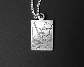 Wild Rose pendant - Photoetched -  Ready to Send