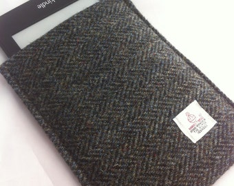 Harris tweed e-reader kindle tablet cover case sleeve made in Scotland man gift