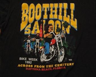 mens vintage Boothill saloon bike week t shirt