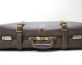 Large Brown Leather Suitcase- Doctors Bag