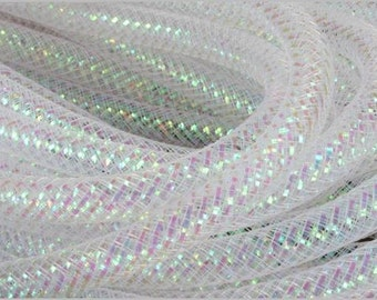 8MM Clear Iridescent Foil Flex Tubing RE300132 (10 YARDS)