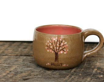 Mini Latte Mug- Spring Tree: Fight Sex Trafficking