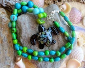 Beaded Sea Turtle Necklace