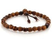 Skull Beads-5mm Skull Beads Stretch Bracelet-Brown-Quantity 1