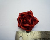 "2"" Mens Lapel Rose . Flower Pin / Brooch - Satin [Red, Black or Navy]"