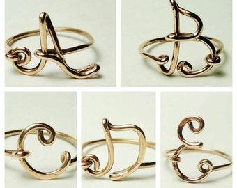 Initial Ring -  Custom initial ring, letter rings