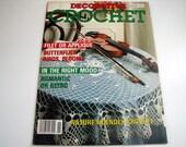 Vintage DECORATIVE CROCHET Pattern Book - Nov. 1990 - # 18 - Doilies - Butterflies - applique -filet - birds - Blooms and more