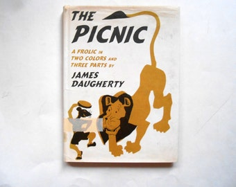 The Picnic, a Vintage Children's Book, James Daugherty