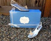 Cinderella Live Action 2015 Butterfly Glass Slippers Style Adult Costume  Pumps Heels Shoes Custom Made