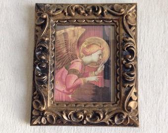 Ornate picture frame  angel print