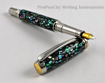 Mother-of-Pearl Fountain Pen with Upgraded Heritance Nib