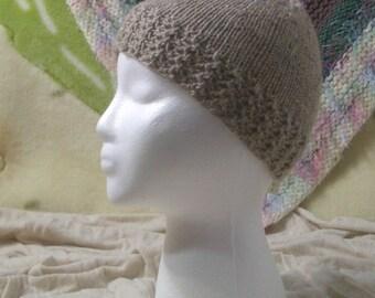 Knit beanie hat -- Oatmeal Beanie