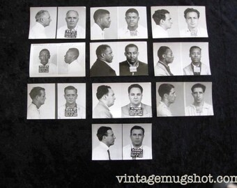 10 Cleveland Ohio Police Department Criminal MUG SHOTS 1940's 1950's Collection