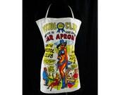 Pin Up Girl Theme Bartender Apron - 1950s - Kitsch - Pistol Club - 50s Gag Gift - Sexy Men's Joke Apron - Politically Incorrect - 43546