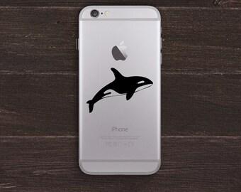 Orca Whale Vinyl iPhone Decal BAS-0242