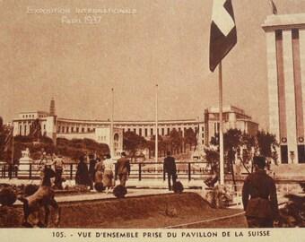Unused French Vintage Postcard - Paris International Exhibition 1937