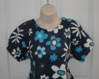 S - Post Surgery FLEECE Shirt / Mastectomy - Breast Cancer / Shoulder Surgery / Adaptive Clothing / Breastfeeding -Style Julie