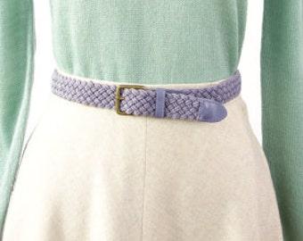 VINTAGE Purple Belt Braided Woven Fabric Muted Vegan
