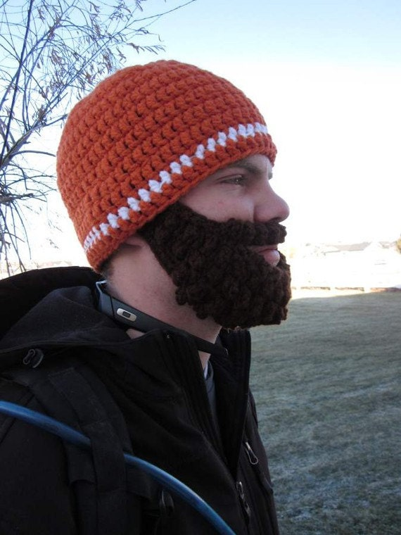 20% OFF Adult ULTIMATE Bearded Beanie Carrot 1-Stripe