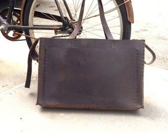 Leather Tote, Large Roomy Structured Tote, Leather Tote Purse, Handmade Handbag, Structured Bags for Work