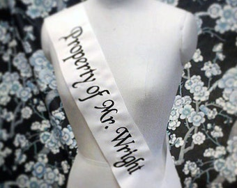 Monogrammed Personalized Embroidered Wedding Bride Sashes custom parties bridal showers