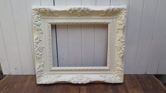 Ornate baroque picture frame large open plastic frame for Plastic baroque mirror