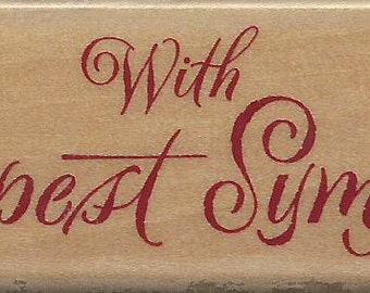 Sympathy Stamp  --  NEW  --  Wood Mounted Rubber Stamp  --  Rubber Stampede --  (#969