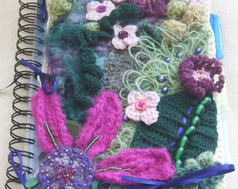 PDF Crochet Pattern for Guided Freeform Notebook cover