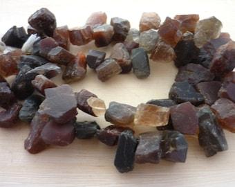 Awsome rough chocolate scapolite shard beads 8-15mm 1/2 strand