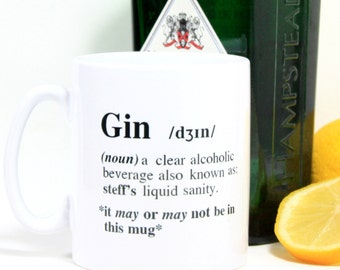 Personalised Gin Mug|Gin Gifts|Funny Mugs|Personalised Mug|gift for her|gift for him|girlfriend gift|best friend gift|best friend birthday