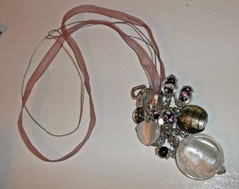 Rose ribbon beaded set