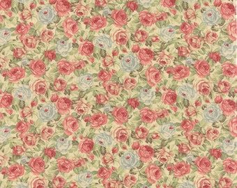 Roses & Chocolates - Packed Floral in Ivory by Sentimental Studios for Moda Fabrics